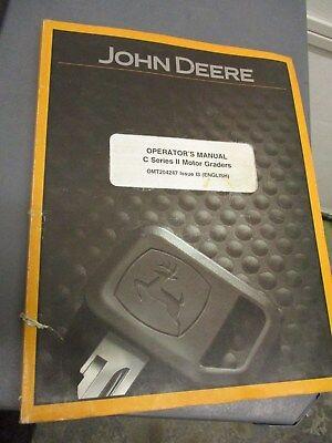 John Deere Series Ii Motor Grader Operators Manual Omt204247
