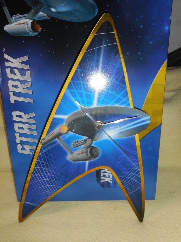 "Star Trek Wall Clock ""Enterprise"" New in Box"