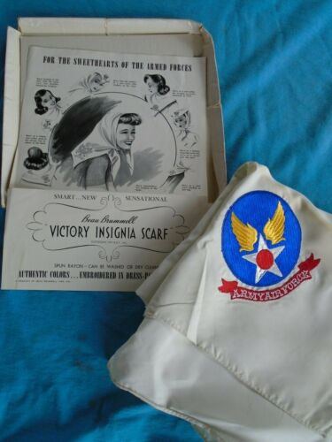 WWII Army Air Forces victory insignia scarf