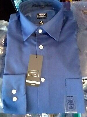 Arrow Blue Velvet Fitted Long Sleeve Dress Shirt Multiple Sizes Available Dress Shirt Sizes