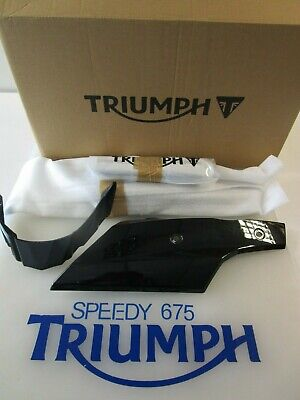 TRIUMPH STREET TRIPLE & R BELLY PAN KIT PHANTOM BLACK A9708345 PR 2013