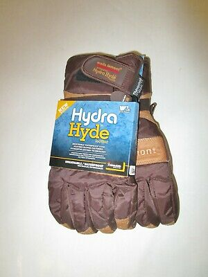 Wells Lamont Hydra Thermal Waterproof Work Gloves Leather Large 3m Insulated