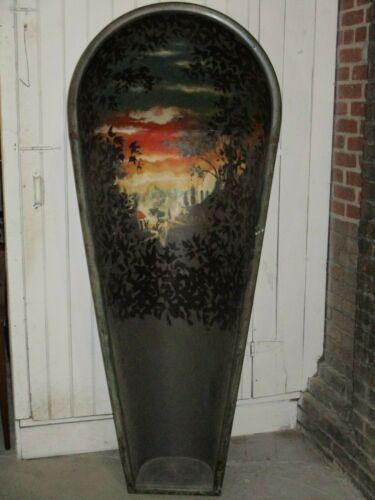 Antique Krauss Painted Galvanized Bathtub