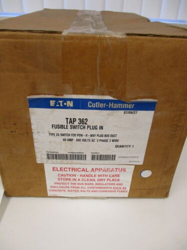 EATON CUTLER HAMMER TAP 362 FUSIBLE SWITCH PLUG IN TYPE DS SWITCH FOR POW-R-