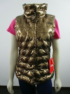 NWT Womens The North Face TNF Holladown Crop Down Winter Vest Insulated Copper The North Face Winter Vest