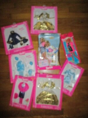 LOT of 7 NEW BARBIE FASHION AVENUE Barbie clothing w/1 used Sweet Treats Barbie