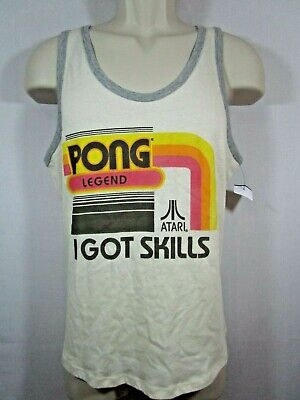 "-- Atari Pong Size L ""I got Skills"" Retro Tank Top Shirt By Junk Food"