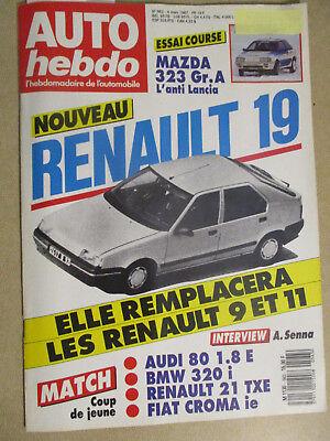 AUTO HEBDO: n°563: 04/03/1987: R19 - AYRTON SENNA - BMW 320i - AUDI 80 - R21 TXE