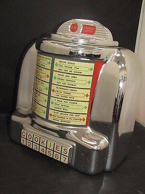 Vintage Vandor 1985 Silver Jukebox Cookie Jar Made in Japan