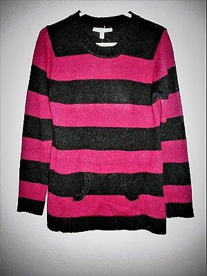 Derek Heart Maternity Striped Long Sleeve Tunic Sweater Size XL  NWT New