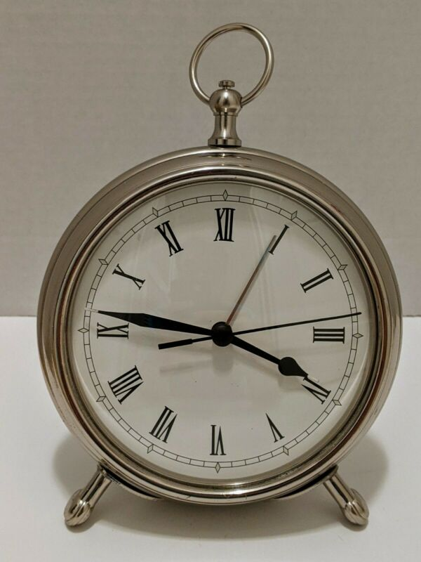 Pottery Barn Pocket Watch Desk Clock and Alarm clock (~6 inch)