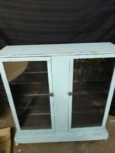Chalk painted china cupboard