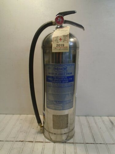 General Fire Extinguisher Model WS/LS 900 Water Can 2-1/2 gal WORKS