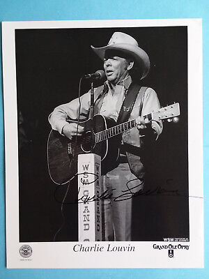 CHARLIE LOUVIN  Signed AUTOGRAPHED Grand Old Opry PHOTO! With Guitar ! 8X10