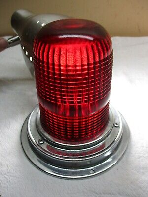Vintage Yankee -342 Red Glass Dome Lens Emergency Ambulance Railroad Light