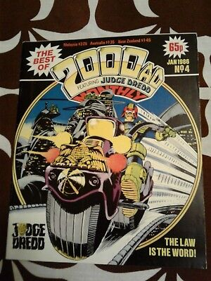 Best of 2000 AD Monthly #4 Judge Dredd Magazine Comic Indie Comics