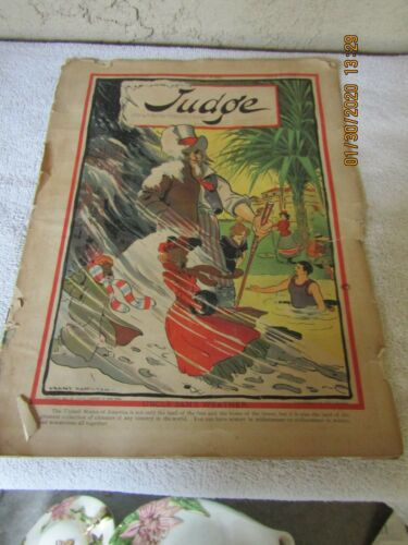ANTIQUE FEB. 9, 1901 JUDGE MAGAZINE, VOL. 40 no. 1008; CENTER POSTER BY VICTOR G