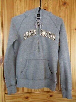 Abercrombie Juniors Girls Large Hoodie Sweatshirt Zipper & Pocket Gray EUC! Juniors Zipper Hoodie
