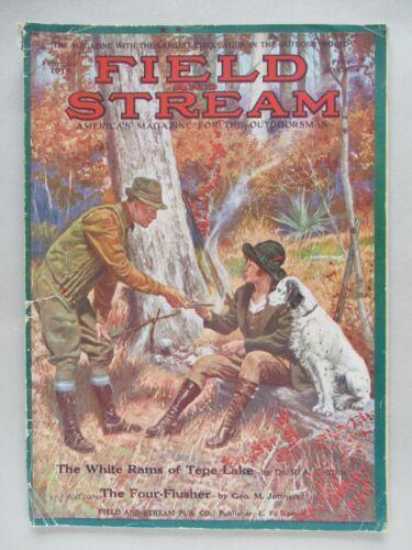 Field & Stream Magazine - February, 1918 ~~ Field and Stream
