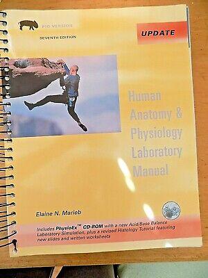 Human Anatomy and Physiology  7th Edition Seventh Marieb Pig Version w. (Human Anatomy And Physiology Marieb 7th Edition)