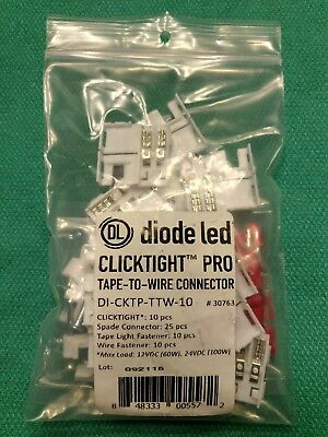 Diode Led Clicktight Pro Tape-to-wire Connectors Nip Di-cktp-ttw-10 1 Package