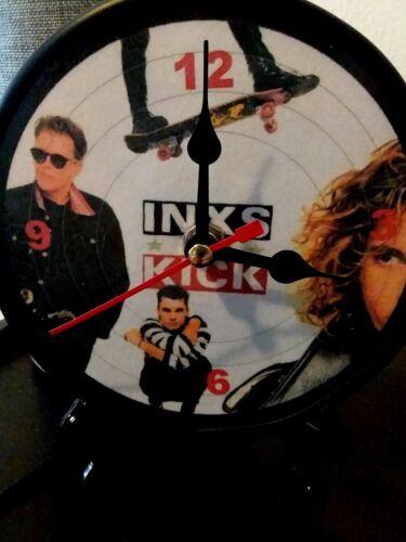 INXS - KICK - 5 INCH QUARTZ DESKTOP CLOCK - NEW -ORIGINAL / BLACK STAND/GIFT BOX