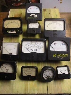 Vintage Meter Lot Amp Volt Westinghouse Simpson U.s. Military Milliamperes Emico