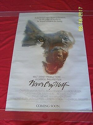 Never Cry Wolf  Coming Soon  Rolled 1982 One Sheet Walt Disney Movie Poster Art