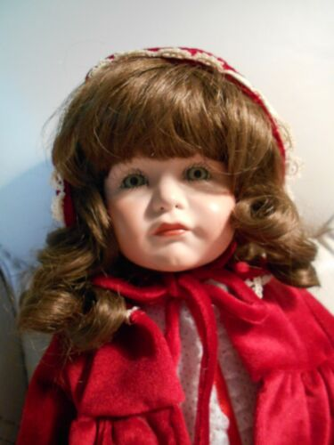 """Full Bodied Porcelain Doll Handmade 19"""" Collectable"""