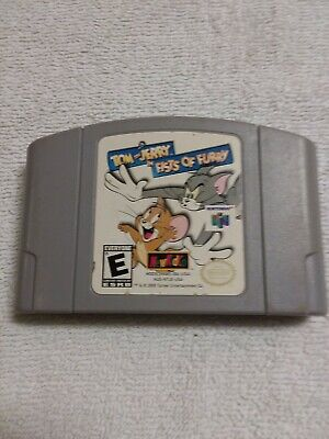 Tom and Jerry in Fists of Furry (Nintendo 64) Tested Working Authentic N64