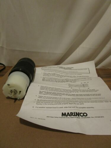 Marinco CS6364N 50 Amp, 125/250 Volt Connector for portable generator cord