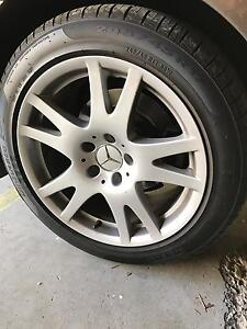 """Mercedes W219 CLS350 17"""" wheels with near new tyres Milton Brisbane North West Preview"""