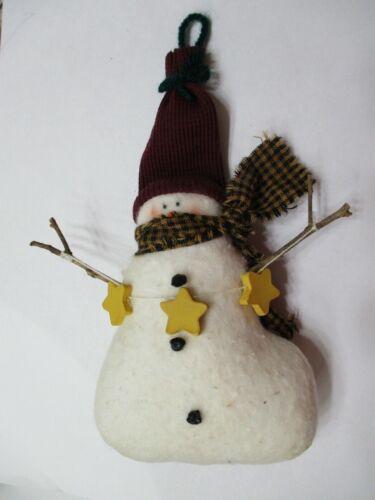 "8"" Vintage Primitive Handmade Snowman Doll Christmas Figure"