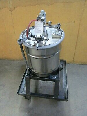 Stainless 12 Gal. Gallon Portable Mobil Pneumatic Air Holding Mixing Tank