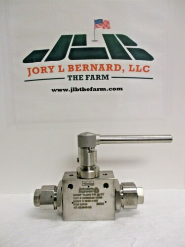 PARKER, AUTOCLAVE, BALL VALVE, CAT# 2B6IN625-15M9, BODY# 202D-1637, MAWP 15,000