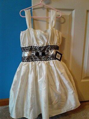 NWT $96 JESSICA MCCLINTOCK big GIRL IVORY DRESS SIZE 14