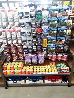 Fishing Tackle Store Display 4' by 4' Convenience Store Complete Set PROFIT!