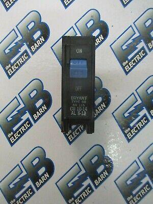 Bryant Br115 1 Pole 15 Amp 120 Volt Circuit Breaker- Warranty