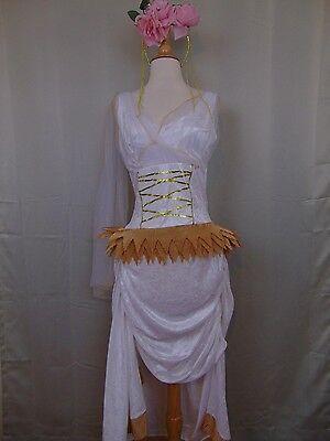 Greek Roman Princess Costume Women's Halloween Dress & Headband Medium 8-10 #670