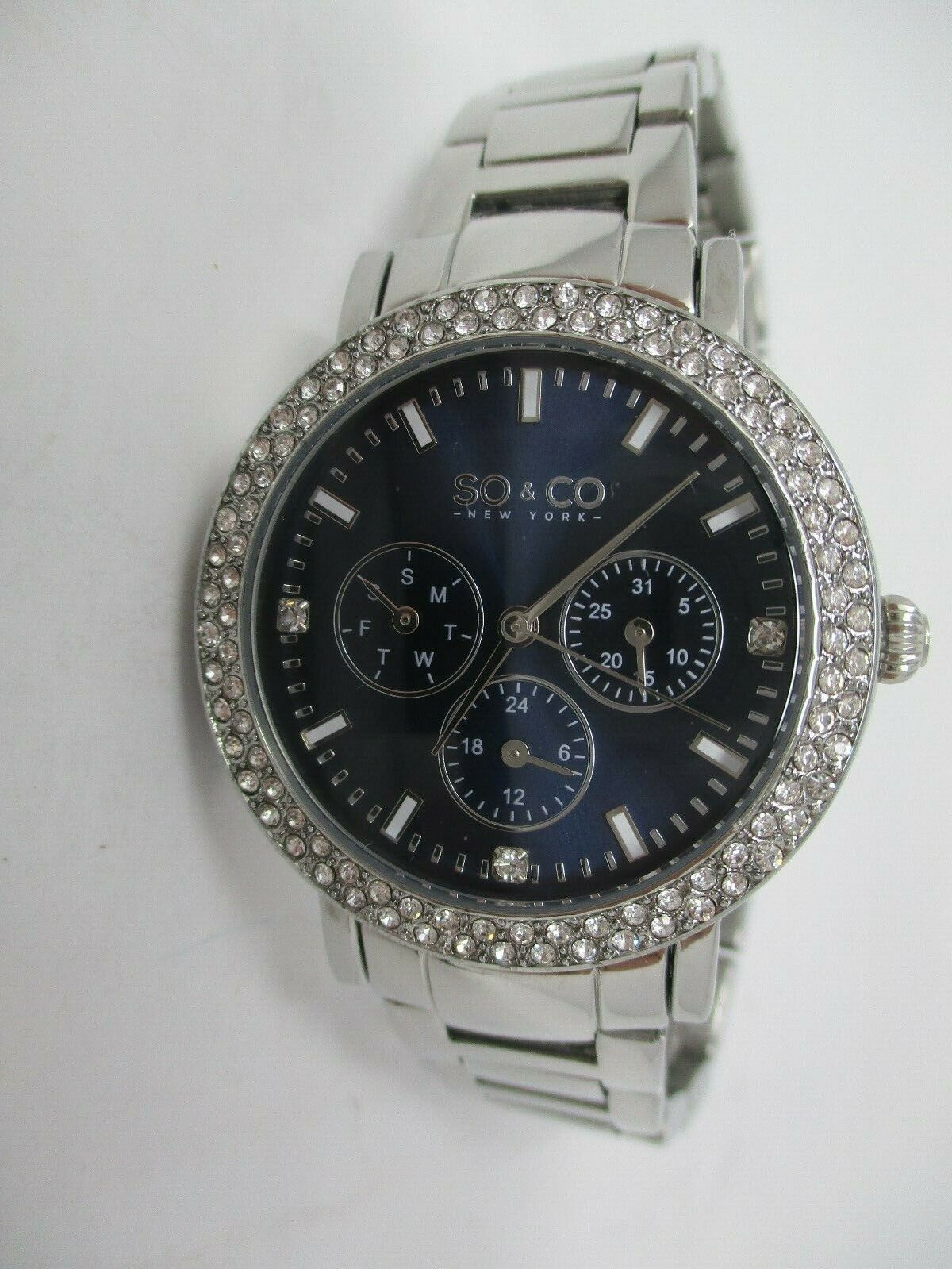 So & Co Women's Stainless Steel Watch With Crystal Accents