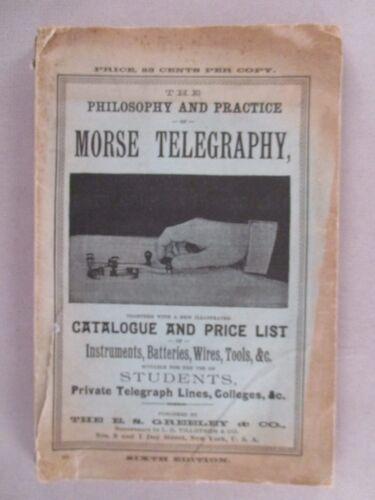 E.S. Greeley Telegraphy CATALOG - 1888 ~~ telegraph instruments, tools, supplies