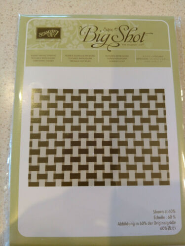 Stampin Up Basket Weave Dynamic Textured Embossing Folder - NEW!