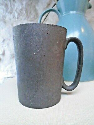 Victorian Pewter Pint Mug Assay VR 2 PINT etched on bottom vintage antique