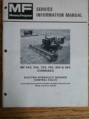 Massey-ferguson Service Manual For 540 550750760850860 Combines