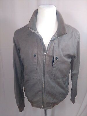 Paul Smith bomber jacket Mens XL Grey front chest snap pockets