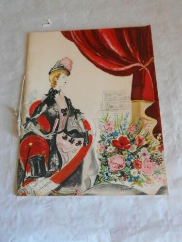Vintage+theatre+programme+souvenir+le+triomphe+d%27antone+1941+art+Andr%C3%A9+Dignimont