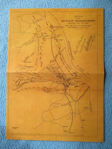 #  Civil War Map - Battle of Fredericksburg, Virginia, 1862 - I COMBINE SHIPPING