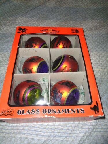 CHRISTOPHER RADKO Shiny Brite Set Of 6 Halloween Mercury Glass Ornaments NEW!