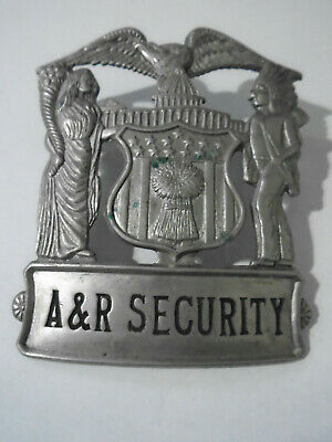 Vintage Obsolete Safetysecurity Badge