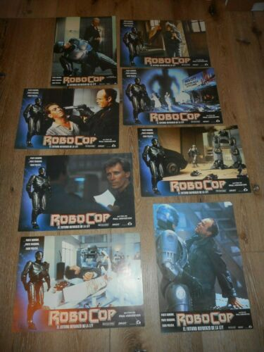 ROBOCOP - ORIGINAL SET OF8 SPANISH LOBBY CARDS - 1987 - PAUL VERHOEVEN